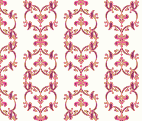 double florish - pinks fabric by designed_by_debby on Spoonflower - custom fabric