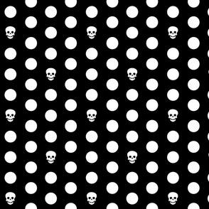 Skull Dots on Black L