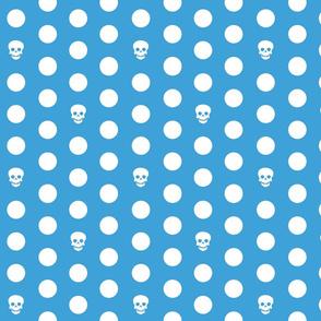 Skull Dots on Turq L