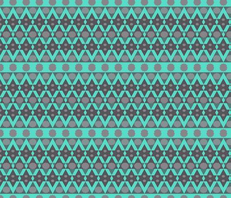 Bright Stars Aqua fabric by katiecraftymom on Spoonflower - custom fabric