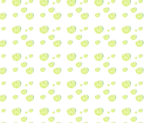Happy acid green limes fabric by outshop on Spoonflower - custom fabric