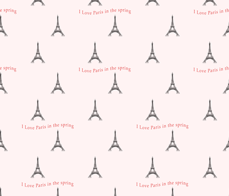 Paris in spring fabric by dsg_designs on Spoonflower - custom fabric