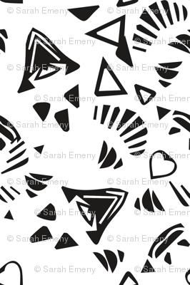 corazón // black white