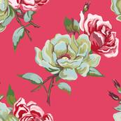 double rose - dark pink