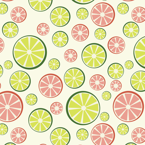 Juicy Limes and Grapefruits fabric by ruthenia on Spoonflower - custom fabric