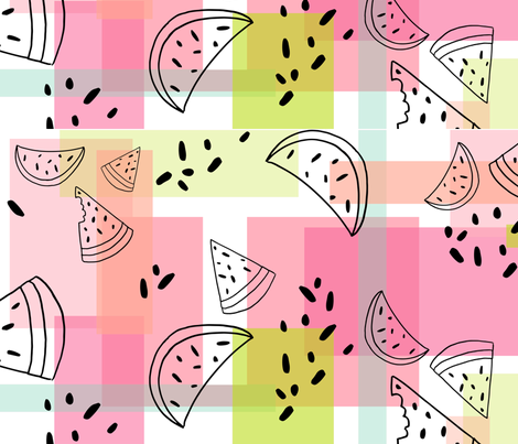 Watermelon Party fabric by thelittlejasmineshop on Spoonflower - custom fabric