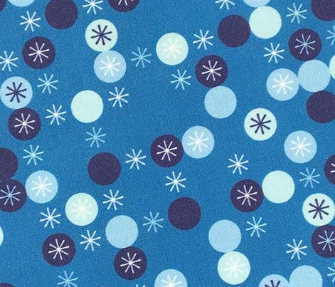 Sparks* (Blue Liz) || geometric circles polka dots stars star starburst atomic midcentury modern