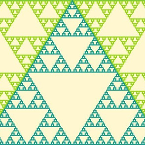 Sierpinsky Triangles in Teal and Green