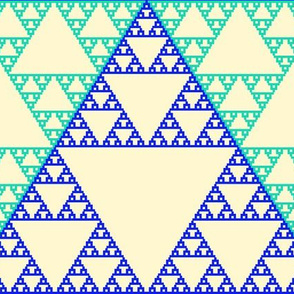 Sierpinsky in Blue and Teal