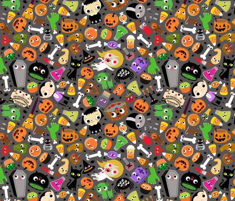 Halloween Mash-up fabric by heidikenney on Spoonflower - custom fabric