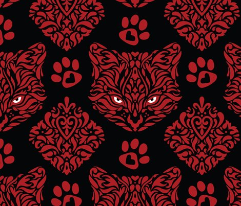 Cat_damask_red_cats_blk_pupil_bkgd_shop_preview