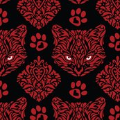 Cat_damask_red_cats_blk_pupil_bkgd_shop_thumb