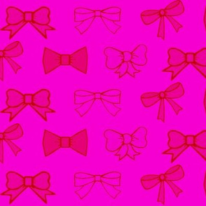 party bows /pink