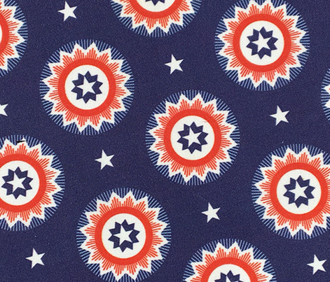 Star Spangled* (Jackie Blue) || stars starburst July 4th Independence Day patriotic red white blue bunting blue ribbon patriotism USA America