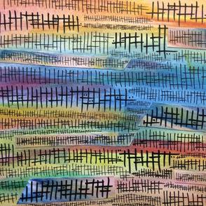 Rainbow Fences Collage
