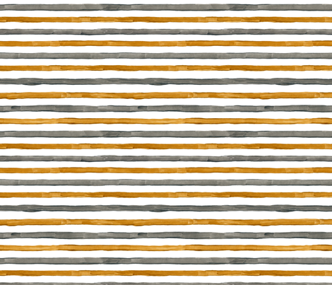Acrylic gold & silver stripes (grey and yellow) fabric by graphicsdish on Spoonflower - custom fabric