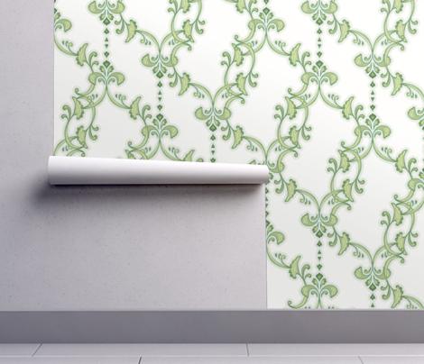 offset flourish - green and white
