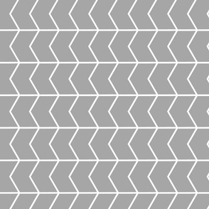 chevron // grey - fearfully and wonderfully made  (90)