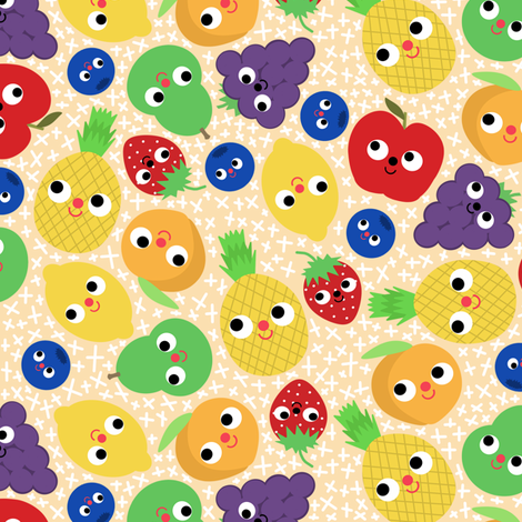 Fruit Salad fabric by heidikenney on Spoonflower - custom fabric