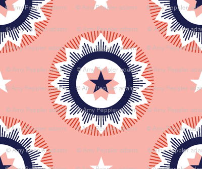 Star Spangled* (Tomato Soup) || stars starburst July 4th Independence Day patriotic red white blue bunting blue ribbon patriotism USA America