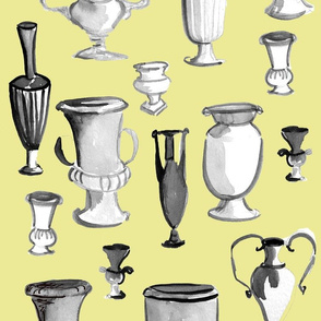 Urns on Yellow