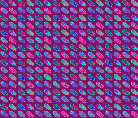 Hyper Colored Indy Feathers fabric by hejamieson on Spoonflower - custom fabric