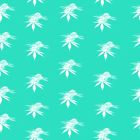 Single White Bud fabric by camomoto on Spoonflower - custom fabric