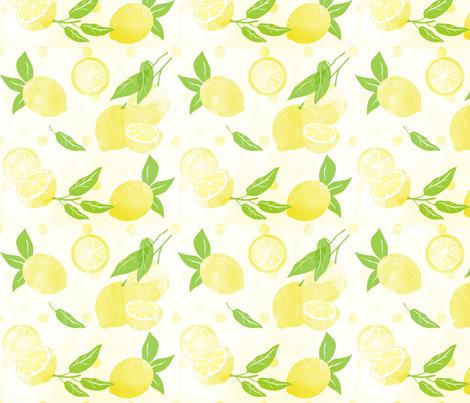 lemon_love fabric by tinastextiles on Spoonflower - custom fabric