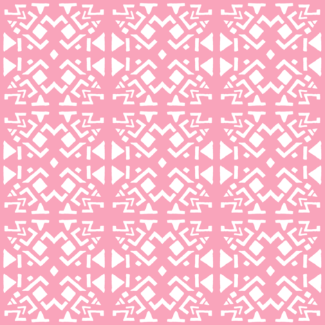 AZTEC ABSTRACT Soft Pink fabric by shi_designs on Spoonflower - custom fabric