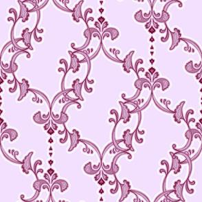offset flourish - lilac
