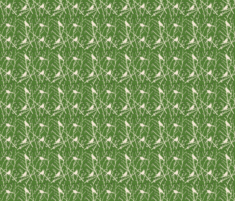 branchy - sand/grass/charcoal bud fabric by cinneworthington on Spoonflower - custom fabric