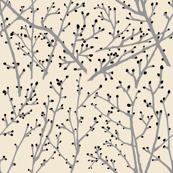 branchy grey - sand/blackbud