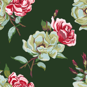 double rose - dark green