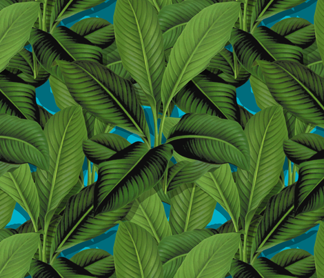 Palm In Palm ~ Layers ~ Henry  fabric by peacoquettedesigns on Spoonflower - custom fabric