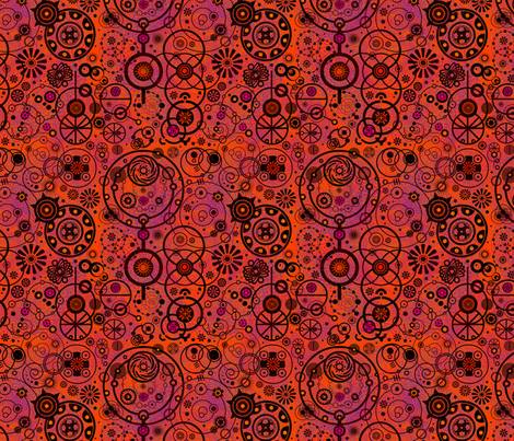 Circle Scribble fabric by de_zigns on Spoonflower - custom fabric
