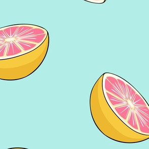 grapefruit - fruit fabric