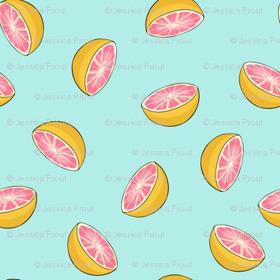 (small scale) grapefruit - summer fabric