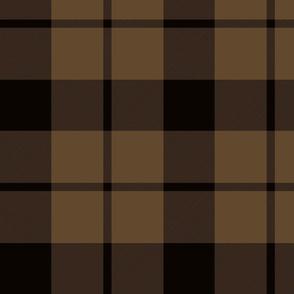 "Brown tartan, 10"""