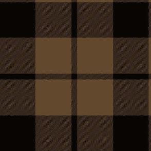 "Brown tartan, 6"""