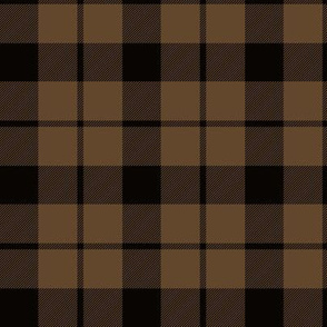 "Brown tartan, 3"""