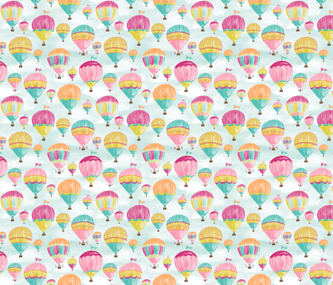 Hot Air Balloons - Smaller fabric by jillbyers on Spoonflower - custom fabric
