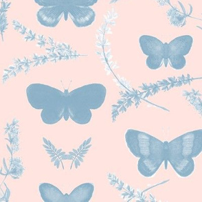 Romantic butterfly_lightBlue/pink