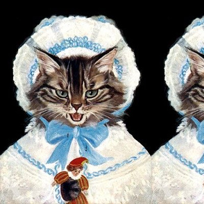 cats Maine Coon EGL elegant Gothic Lolita Victorian bows hats bonnets lace dolls jesters clowns vintage retro Anthropomorphic  whimsical animals