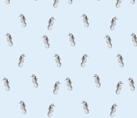 Seahorses fabric by ericarileyart on Spoonflower - custom fabric