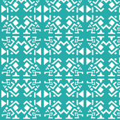 AZTEC ABSTRACT Turquoise