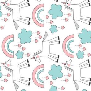 large unicorns-on-white