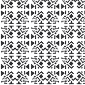 AZTEC ABSTRACT Black and White