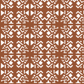 AZTEC ABSTRACT Warm Brown
