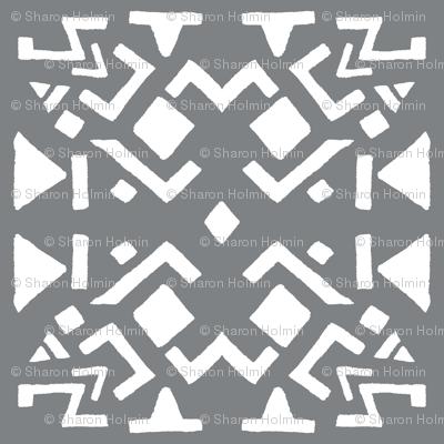 AZTEC ABSTRACT Smoky Grey