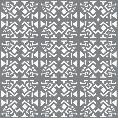 AZTEC ABSTRACT Smoky Grey fabric by shi_designs on Spoonflower - custom fabric